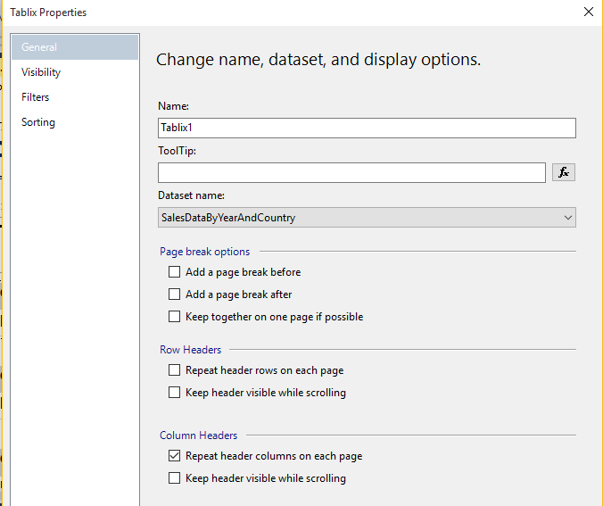 SSRS - Repeat Page Headers on Every Page | PTR
